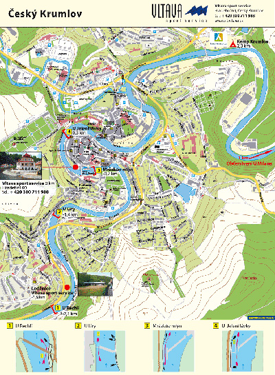 Map of the Vltava River - Český Krumlov